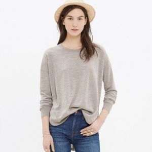 Madewell Northstar Pullover Sweater Natural